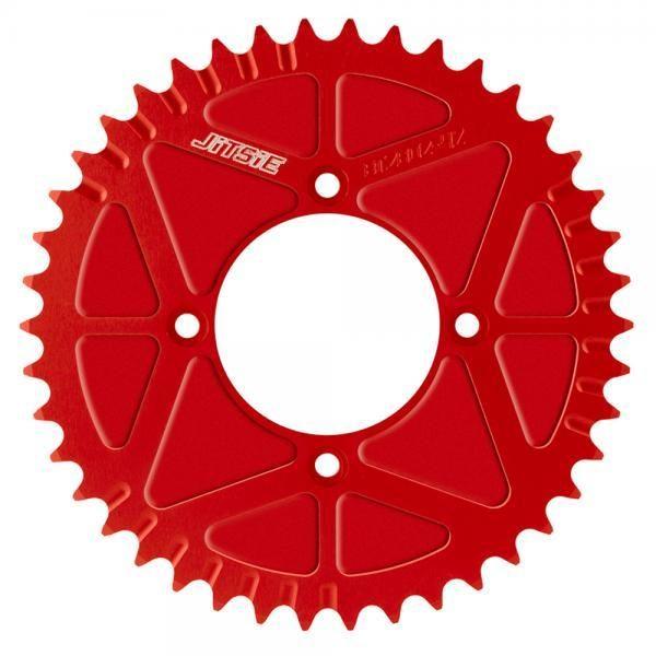JITSIE Lukket Bagkædehjul Rød-0