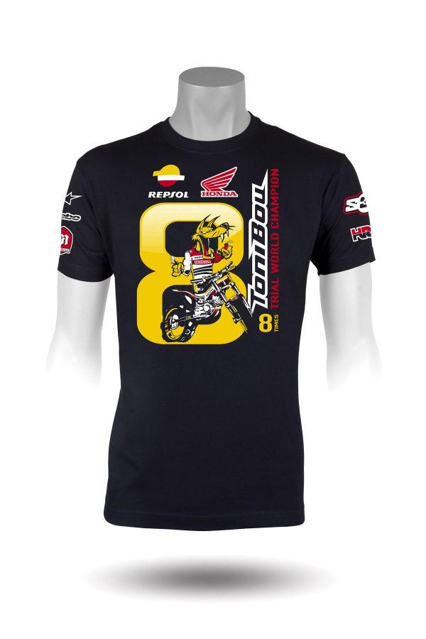 S3 T-shirt - Toni Bou 8 - 100% bomuld-0