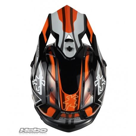 HEBO Hjelm KID - MX STRIKER Orange-4951